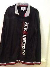 Ecko Unltd Black Full Zip Up Long Sleeve Jacket Mens L Large Red White Gray Trim