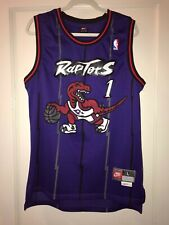 Men's Vtg Toronto Raptors Tracy McGrady Stitched Nba Basketball Jersey Large L