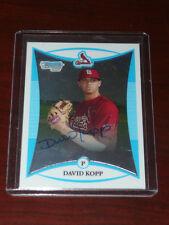 DAVID KOPP 2008 Bowman Chrome AUTO Autograph St. Louis Cardinals Card Rookie RC