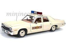 AUTOWORLD AMM1019 1974 74 DODGE MONACO ILLINOIS STATE POLICE PATROL CAR 1/18