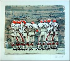 "Aldo Luongo ""Let's Go For Bomb"" Hand Signed Lithograph Art Football Scene OBO"