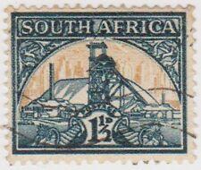 (RSA184)1941SouthAfrica1½dGreen & buff gold mineSouth)C
