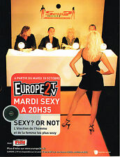 PUBLICITE ADVERTISING  2005   EUROPE 2 TV  MARDI SEXY