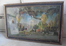BIG Original 1920s Art Deco Roy Grossman Garden of Melody Print Framed LOOK