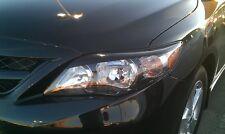 2011-13 Corolla head light Eyelids -Pre-cut Gloss Black vehicle graphic overlays