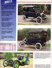 1913 Ford Model T Article - Must See !! Over-Sized Thick Glossy Pages !!
