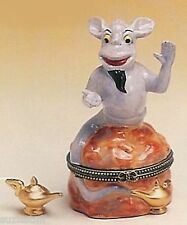 GENIE for MAKING WISHES COME TRUE---Porcelain Hinged-Box.- with MAGICAL OIL LAMP
