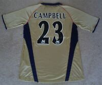 BESPOKE 'SOL CAMPBELL 23' ARSENAL 2002 DOUBLE-WINNING AWAY SHIRT (MEDIUM/LARGE)