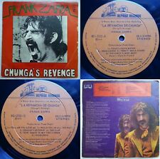 FRANK ZAPPA CHUNGA'S REVENGE UNIQ CVR WHITE ALBUM TITLE! MEGARARE CHILEAN PRESS!
