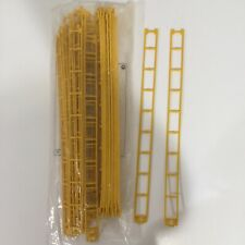 """Lego KNEX MICRO Track 16"""" Yellow Straight Roller Coaster Parts – 38 Piece Lot"""