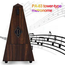 Antique Mechanical Metronome Teak Vintage Wood Color Tower Style Music Timer