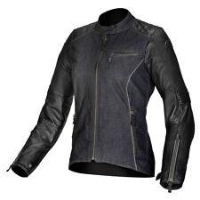 ALPINESTARS Ladies RENEE Leather/Textile Motorcycle Jacket (Black) EU 46/US 10