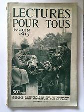 LECTURES POUR TOUS 1 ER JUIN 1915 GUERRE 14 18 ILLUSTRE