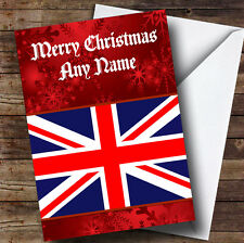 British Flag / Union Jack Personalised Christmas Greetings Card