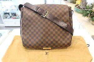 Louis Vuitton Damier Ebene Bastille Shoulder Bag Good Condition & Authentic