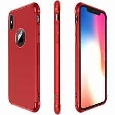 For Apple iPhone Xs /X Hybrid Stylish Red Case Cover Slim Soft Tpu Bumper