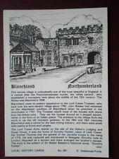 POSTCARD NORTHUMBERLAND BLANCHLAND  LOCAL HISTORY CARD
