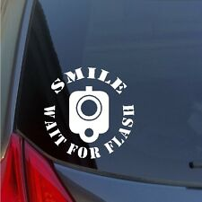 Smile Wait for Flash Barrel front sight vinyl sticker decal 2A Gun Rights pistol