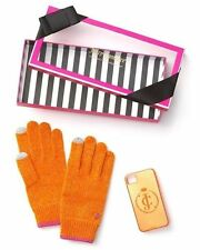 Juicy Couture Knit Texting Glove & Glitter Gelli iPhone 4/4S Case in Fire Opal