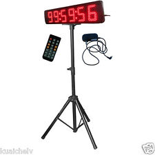 """Red Color 5"""" LED Race Timing Clock with Tripod Outdoor/Semi-Outdoor Version"""