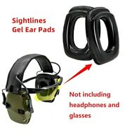 Tactical electronic gel sight ear pads tactical silicone replacement earmuffs