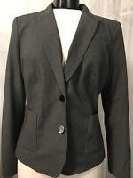 Calvin Klein Women's Blazer Petites Black 2 Button Lined Size 10P NWT