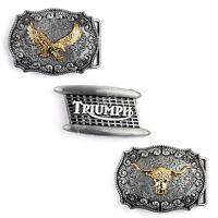 Men Vintage Hebilla del cinturón Bull Eagle Head Logo Zinc Alloy Belt Buckle