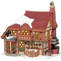 """Department 56 Alpine Snow Village Cowbell Forge Lit House, 6.38"""" Ships Globally!"""