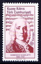 Turkish Cyprus 1985 MNH, Europa, Domenico Scarlatti, Italian Composer Music
