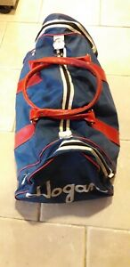 Vintage Hogan Sports Gym Duffle Holdall Bag, Red Blue white canvas pockets