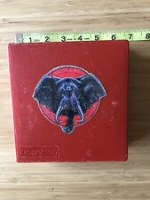"Red 5 1/4"" Elephant Memory System Dennison Floppy Disk Storage Box Commodore 64"