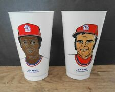 1973 Amoco (Like 7-11) Cups 7 Eleven Lou Brock & Joe Torre St Louis Cardinals