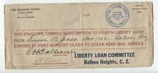 1918 Panama Canal liberty bond aero mail service ocean to ocean cover [y4901]