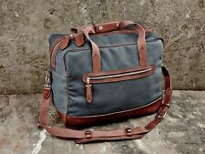 Monty Big Weekend Bag, Storm Grey, Triple Layered Canvas and Premium Leather