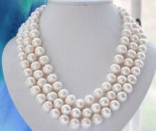 9-10mm weiß Süßwasser Perlenkette 127CM