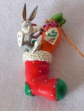 1998 LOONEY TUNES CHRISTMAS ORNAMENT Bugs Bunny Christmas stocking