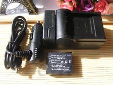 Batería + Cargador Para Panasonic Lumix Dmc-tz4, Dmc-tz5, Dmc-tz15 Cámara Digital