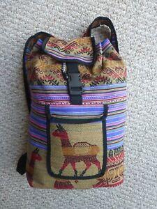 Peruvian Andean Fabric Back Pack