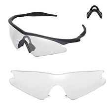 New Walleva Clear Replacement Lenses For Oakley M Frame Sweep Sunglasses