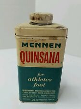 Vintage MENNEN QUINSANA FOOT POWDER TIN