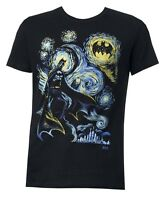 DC Comics Batman Starry Night Black Men's T-shirt New