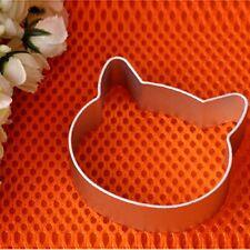 Aluminium Kitchen Cat Head Shaped Cookie Cake Sugarcraft Plunger Cutter