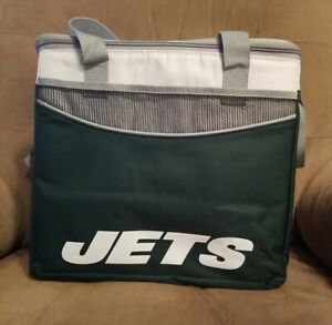 """New York Jets  Cooler Zipper Insulated Lunch Bag NFL - 36 can - 9.5""""×14""""×12"""""""
