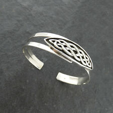 Celtic Knot Cuff Bracelet - 925 Sterling Silver Irish Bangle Bracelets Gift NEW