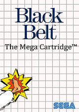 Black Belt Sega Master System enmarcado impresión (cueva de hombre imagen Cartel Juego Mma)