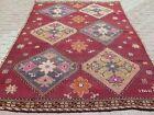 """Vintage Turkish Rug, Area Rug, Large Kilim, Floor Rug, Wool Rug, Carpet 81""""X109"""""""