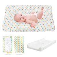 Infant Baby Changing Mat Cover Diaper Nappy Change Pad Waterproof Cotton 31.5 in