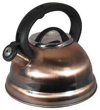 Dark Copper Stainless Steel Tea Kettle – 2.8 L Stove Top Whistling Kettle