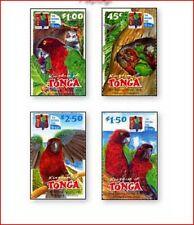 TON0207 Parrots 4 stamps