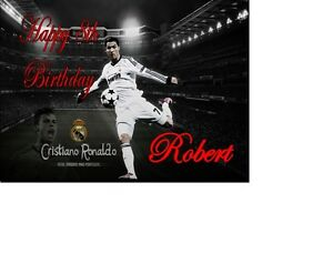 PERSONALISED CRISTIANO RONALDO A5 BIRTHDAY CARD ANY NAME AGE OCCASION GREETING